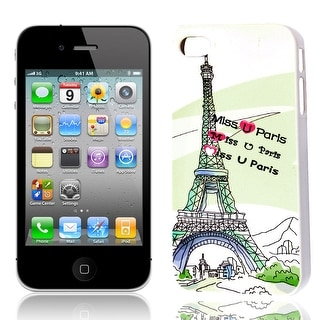 Plastic Glow in The Dark Guard Shell Back Case Cover Black White for iPhone 4 4S