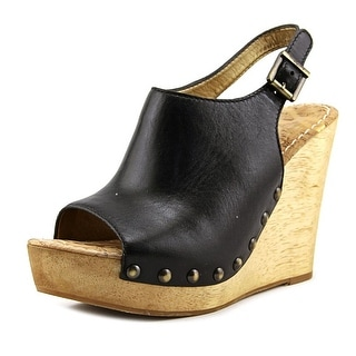 Sam Edelman Camilla   Open Toe Leather  Wedge Sandal