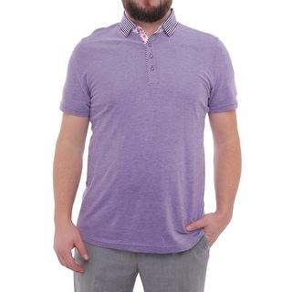 Stone Rose Short Sleeve Oxford Knit Polo Men Regular Polo Shirt