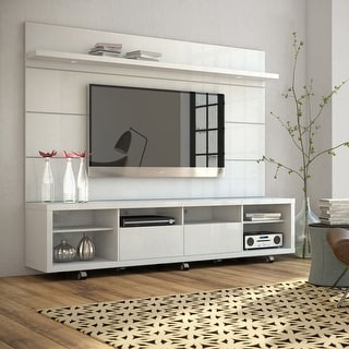 Cabrini TV Stand and Floating Wall LED TV Panel