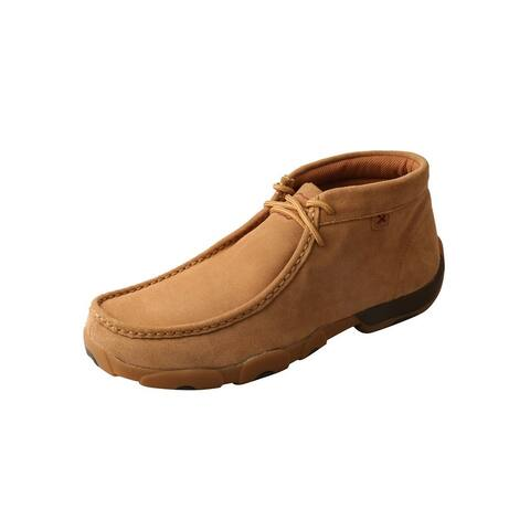 Twisted X Casual Shoes Mens Driving Moc D Toe Lace Tan