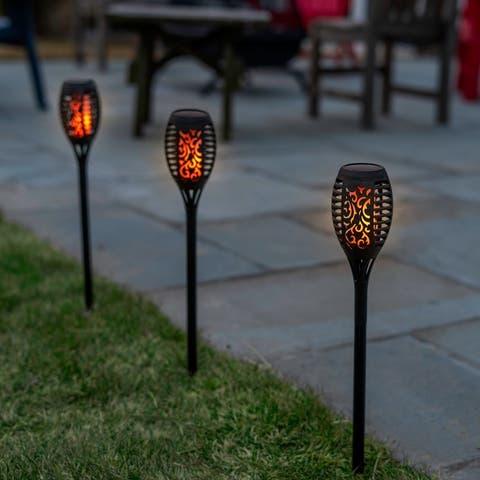 Solar LED Flickering Flame Tiki Torch Lights