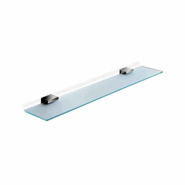 """WS Bath Collections Lea A19090 Lea 23-3/5"""" Glass Shelf - Polished Chrome"""
