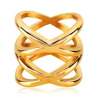 Double X Gold IP Stainless Steel Ring (Sold Ind.)