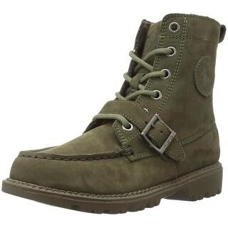 Kids POLO Ralph Lauren Boys RF100536C Ankle Lace Up Combat Boots - 13.5 medium us little kid