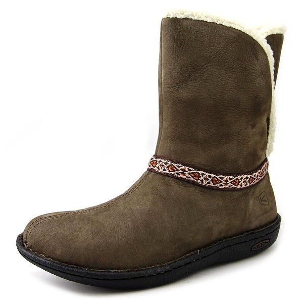 Keen Galena Mid Women Round Toe Leather Brown Winter Boot