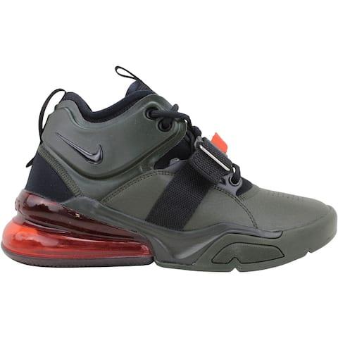 Nike Air Force 270 Sequoia/Habanero Red-Black AJ8208-300 Grade-School