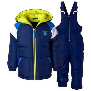 iXtreme Boys 12-24 Months Color-block Raglan 2-Piece Snowsuit