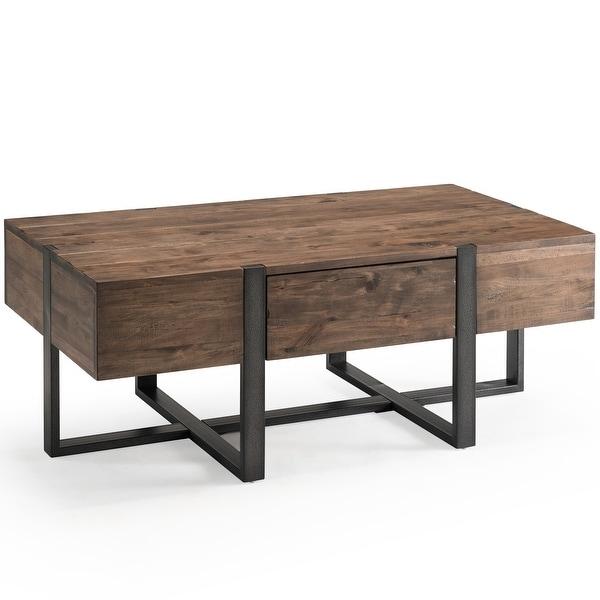 Prescott Modern Reclaimed Wood Condo Coffee Table. Opens flyout.