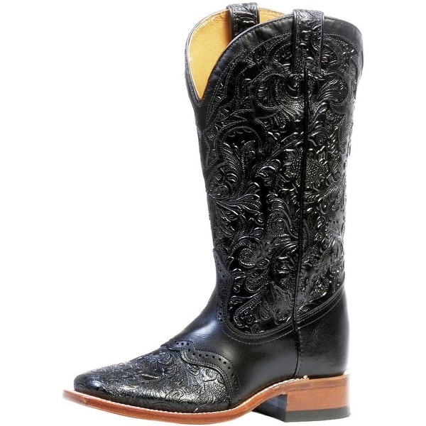 Boulet Western Boots Womens Square Stockman Torino Calf Black
