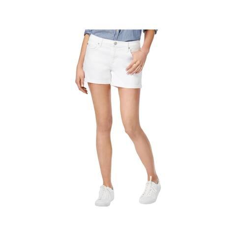 Hudson Womens Asha Denim Shorts Cuffed Mid-Rise