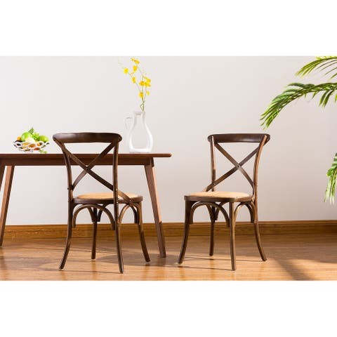 Porthos Home Remus Wood Dining Chairs Set Of 2, Bamboo And Birch Wood