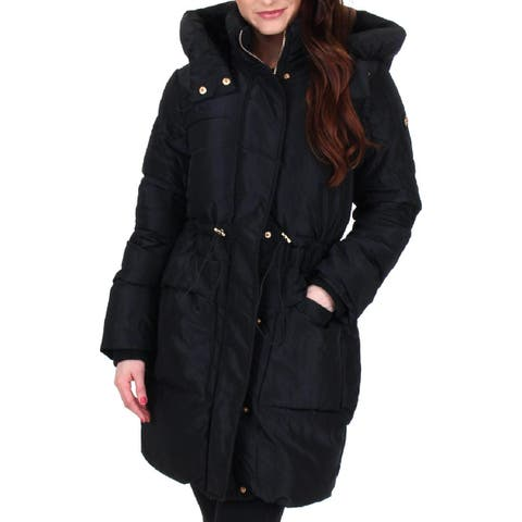 Jessica Simpson Womens Puffer Coat Quilted Mid-Length