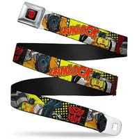 Transformers Autobot Logo Full Color Black Red Grimlock Poses Autobot Logo Seatbelt Belt