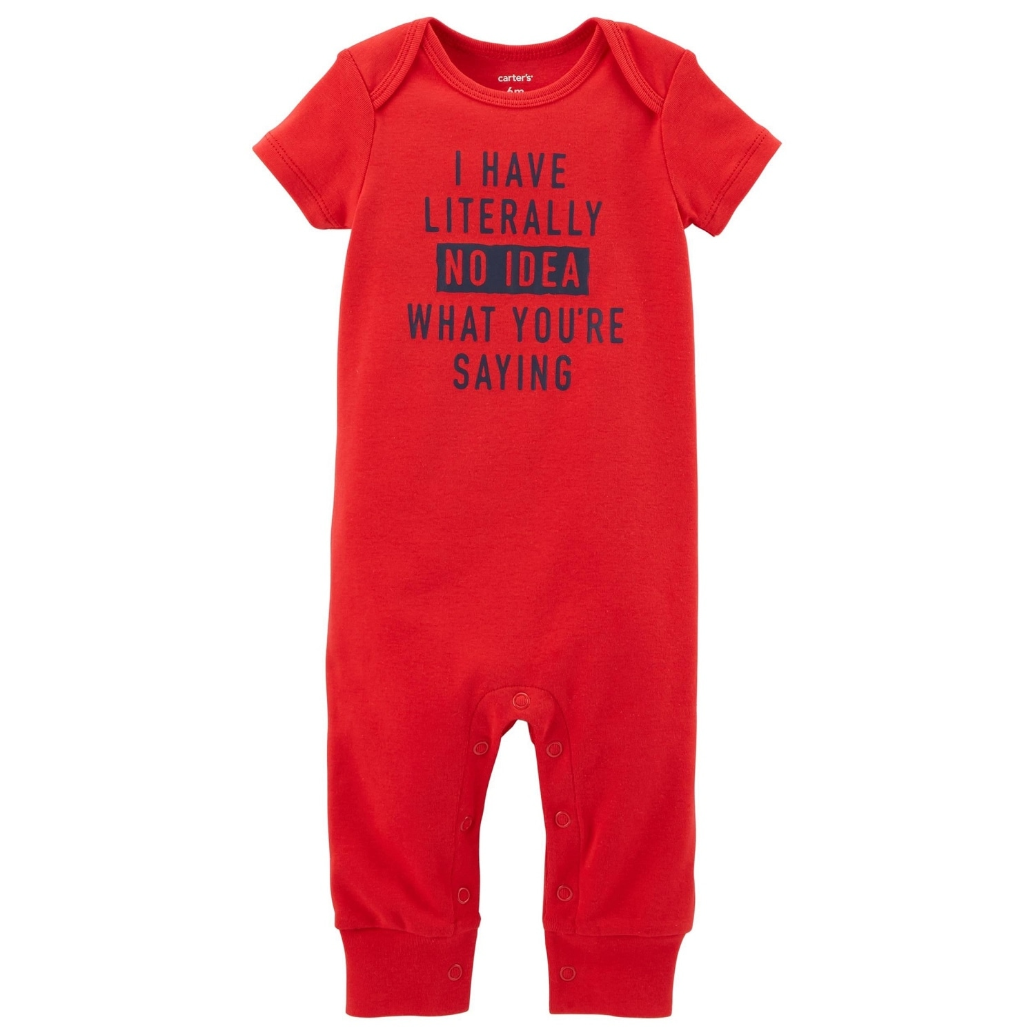Carters Baby Boys No Idea What Youre Saying Jumpsuit 18// Months Red