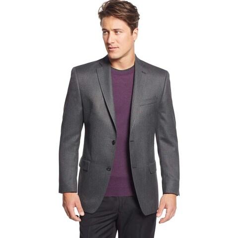 Michael Kors Mens Classic Fit Charcoal Herringbone Sportcoat 38 Regular 38R Blazer