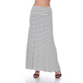 Striped Maxi Skirt - White Navy