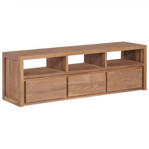 "vidaXL TV Cabinet Solid Teak Wood with Natural Finish 47.2""x11.8""x15.7"""
