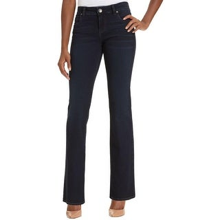 Kut From The Kloth Womens Natalie Bootcut Jeans Denim Bakes Creases
