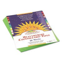 Pacon  SunWorks Construction Paper  Heavyweight  9 x 12  Bright Gree
