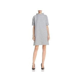 French Connection Womens Marian Casual Dress Short Sleeves Knee-Length