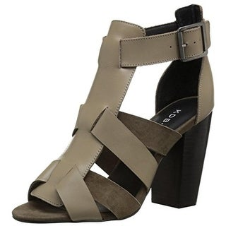 Kelsi Dagger Womens Belle Dress Sandals Leather Stacked