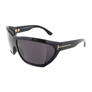 Tom Ford FT0402/S 01A SEDGEWICK Shiny Black Oversized Wrap sunglasses - 62-13-115