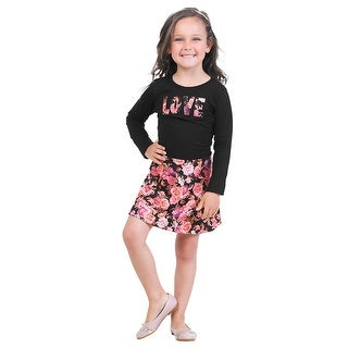Pulla Bulla Little Girls' Long Sleeve Floral Dress (Option: 5)