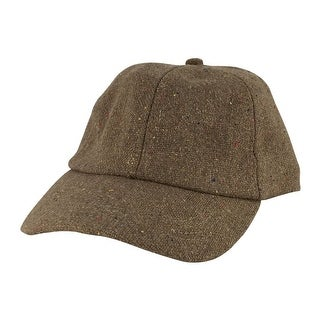 Wool Confetti Sparkle Unstructured Adjustable Strapback Dad Cap Hat by CapRobot - Khaki
