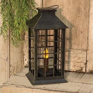12 Inch Burnt Mustard Taper Lantern