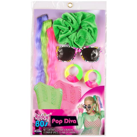 Womens Instant Era 80's Popstar Costume Kit - Standard - One Size