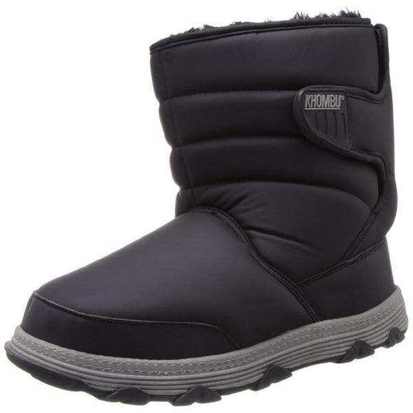 Khombu Mens Wanderer Snow Boots Faux Fur Lined