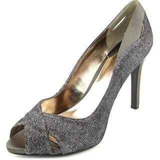 Alfani Lyrra Peep-Toe Canvas Heels