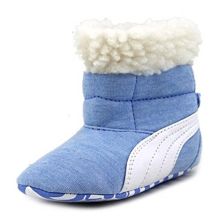 Puma Baby Boots Fur Round Toe Canvas Winter Boot
