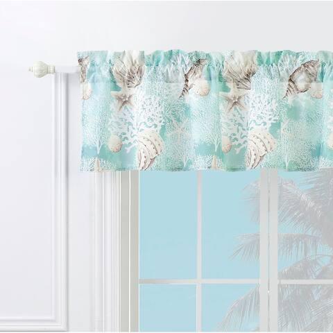 Barefoot Bungalow Ocean Turquoise Window Valance