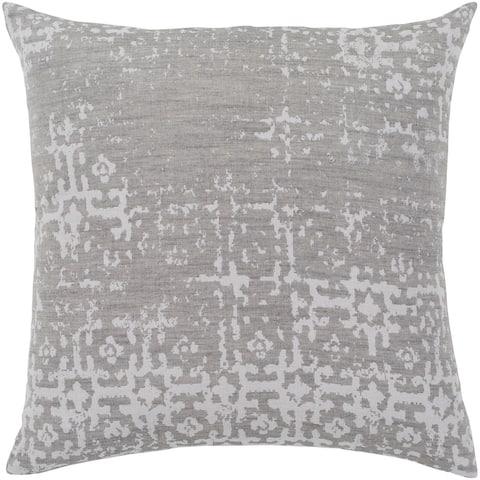 """Leopold Grey & White Throw Pillow Cover (20"""" x 20"""")"""