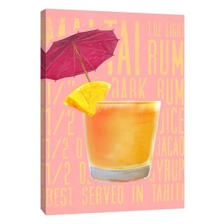 "PTM Images 9-108936  PTM Canvas Collection 10"" x 8"" - ""Mai Tai (Vertical)"" Giclee Liquor & Cocktails Art Print on Canvas"