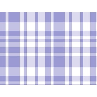 """Pack Of 1, 24"""" x 417' Lavender Plaid Gift Wrap Counter Roll For 175 -200 Gifts Made In Usa"""