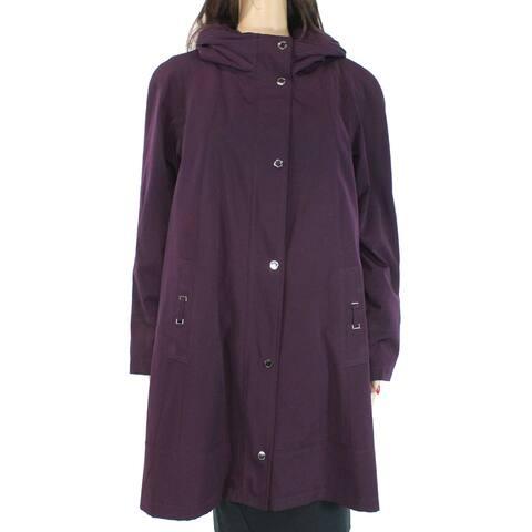 Gallery Women's Coat Blackberry Purple Size Small S Heritage Pleated