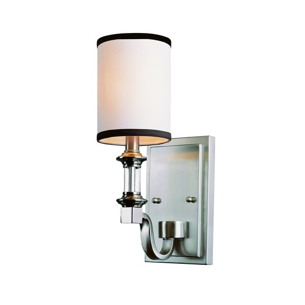 Trans Globe Lighting 7971 1-Light Wall Sconce from the Modern Meets Traditional Collection - Brushed nickel - n/a