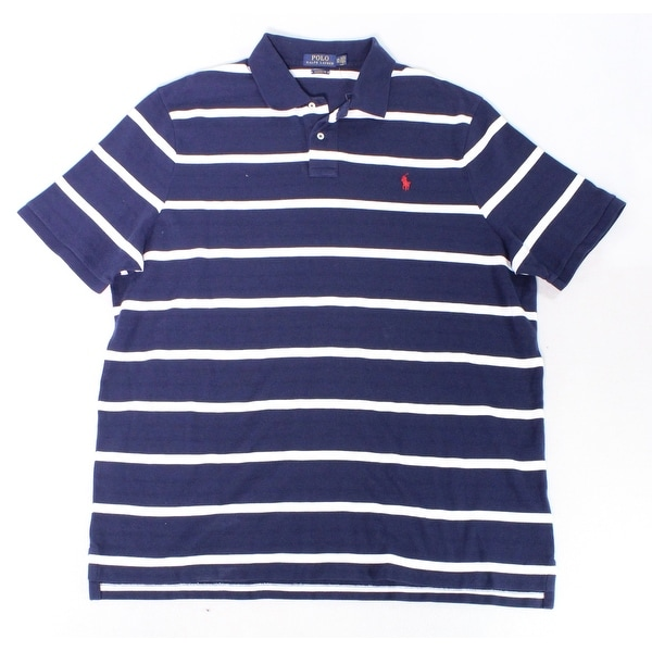 ebb467aa Shop Polo Ralph Lauren Blue Mens Size 2XL Striped Polo Rugby Shirt - Free  Shipping Today - Overstock - 28033074