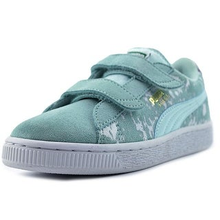 Puma Suede Blur V Kids Youth Round Toe Suede Blue Sneakers