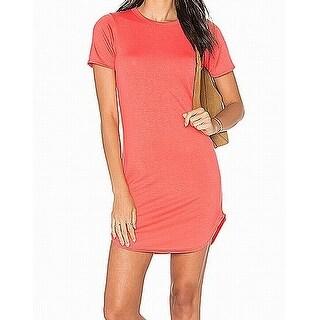 C&C California NEW Deep Red Womens Size Large L Crewneck Shirt Dress