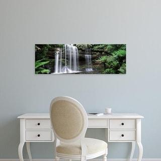 Easy Art Prints Panoramic Images's 'Waterfall, Russell Falls, Mt Field National Park, Tasmania, Australia' Canvas Art