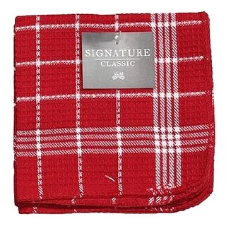 7475 13 x 13 in. Red 100 Percentage Cotton Dish Cloths - 4 Pack, Pack Of 3