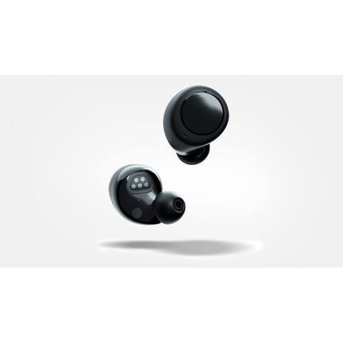 """Amazon Echo Buds True Wireless In-Ear Headphones - Black - Earphones: 0.94"""" x 0.91"""" x 0.87"""""""