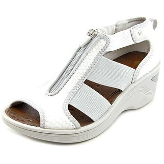 BZees Duet Women Open Toe Synthetic White Wedge Sandal