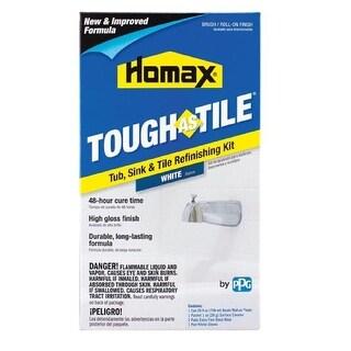 Homax 3158 Tough As Tile Epoxy Enamel Brush On Paint, White