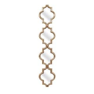 "47"" Metallic Gold Modern Style Decorative Long Narrow Wall Mirror"