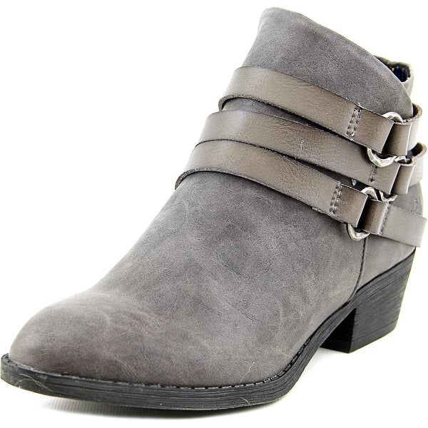Blowfish Sanger Women Round Toe Synthetic Gray Ankle Boot